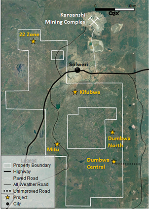 Solwezi Copper area